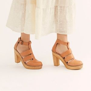 New Free People Mix It Up Brown Platform Shoes